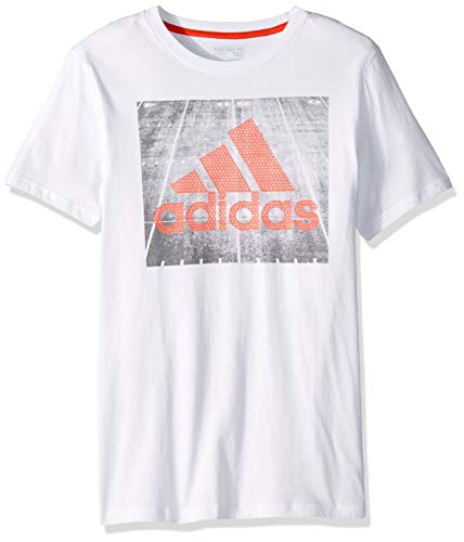 adidas Boys' Big Short Sleeve Graphic Tee Shirt, Field c